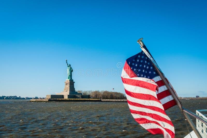 Vrijheidsbeeld in New York, Verenigde Staten stock fotografie