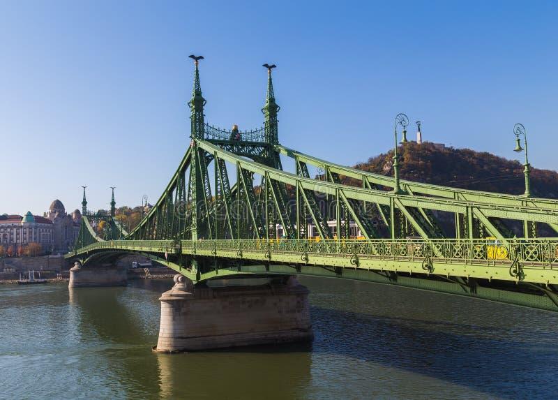 Vrijheidsbrug in Boedapest Hongarije stock afbeelding