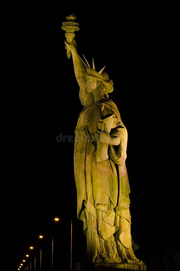 Vrijheidsstandbeeld in Colmar stock foto's