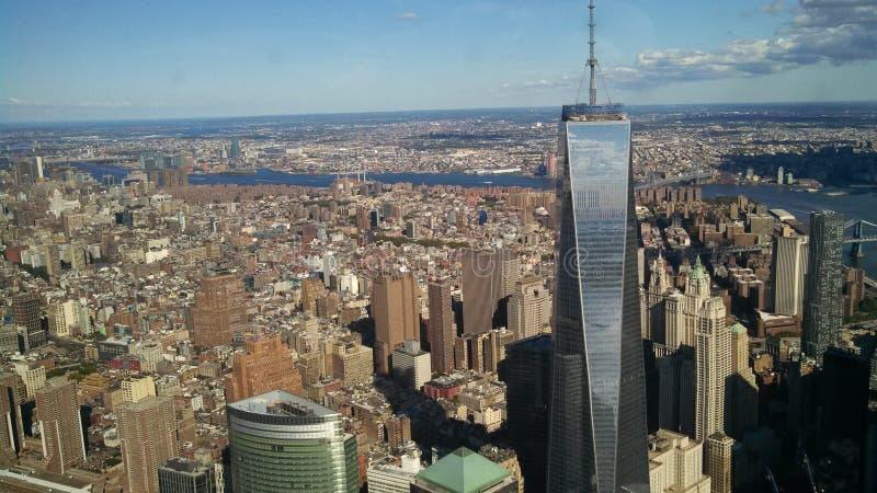 Vrijheidstoren en NYC royalty-vrije stock foto's