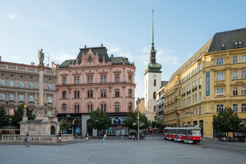 Vrijheidsvierkant in Brno, Tsjechische republiek royalty-vrije stock fotografie