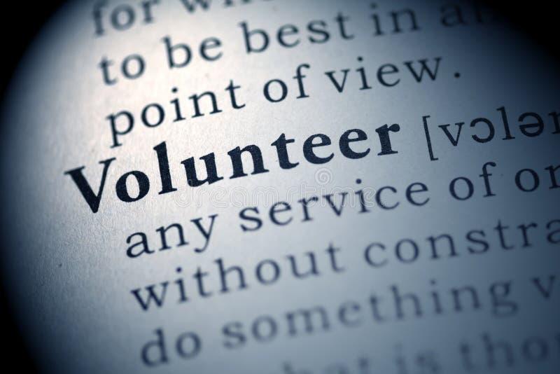 Vrijwilliger stock foto