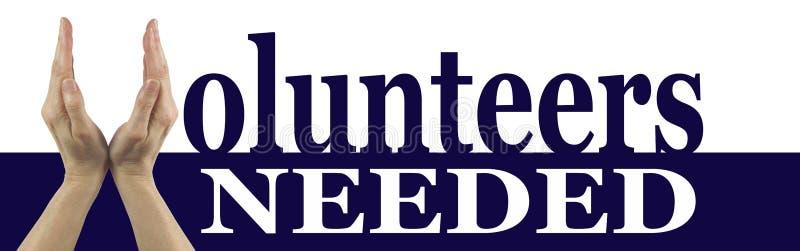 Vrijwilligers Nodig Campagnebanner stock afbeelding