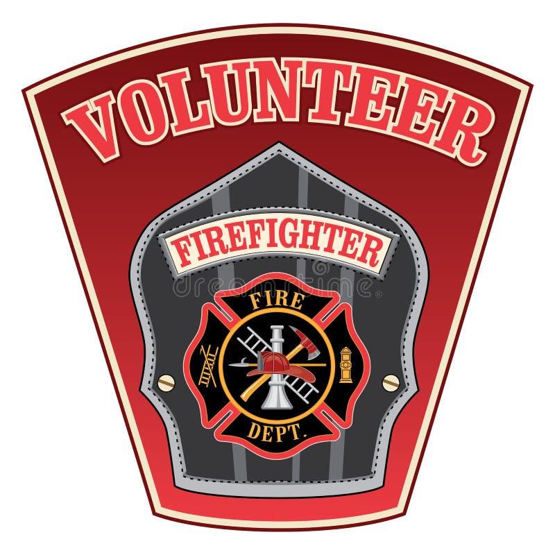 Vrijwilligersbrandbestrijder Shield vector illustratie