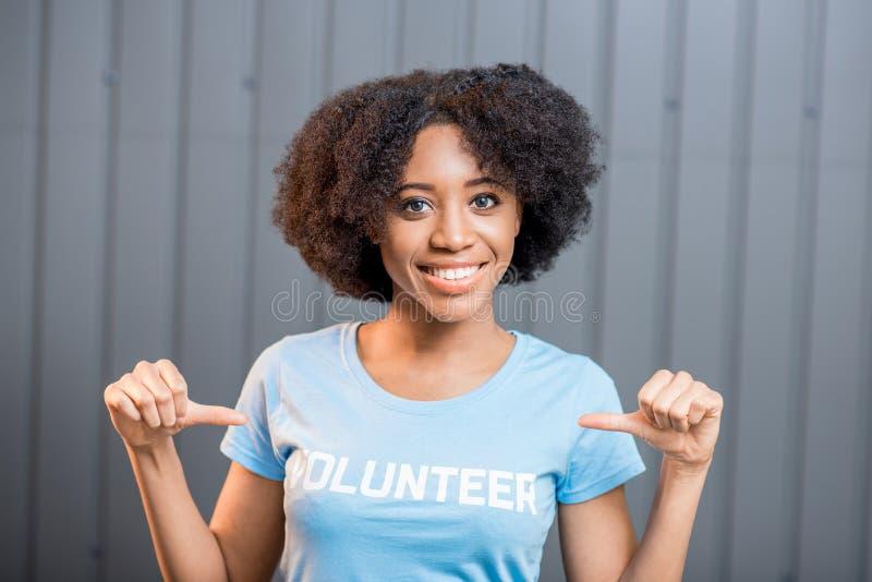 Vrijwilligersportret binnen stock foto