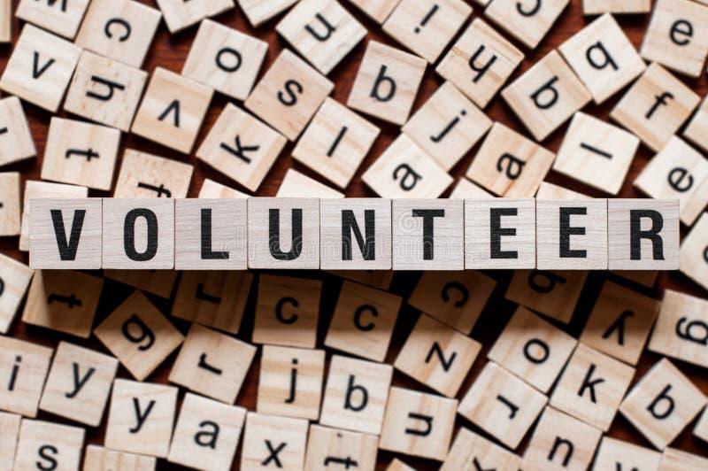 Vrijwilligerswoordconcept stock foto