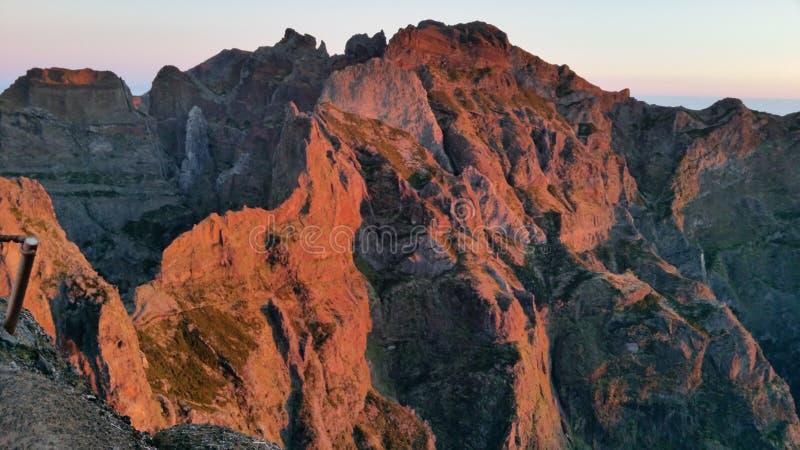 Vroeg ochtendlicht op Pico Ariero royalty-vrije stock foto