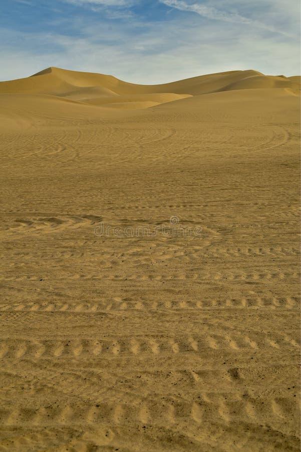 Vroeg zonlicht in de ochtend Californië, de V.S. van zandduinen royalty-vrije stock afbeeldingen