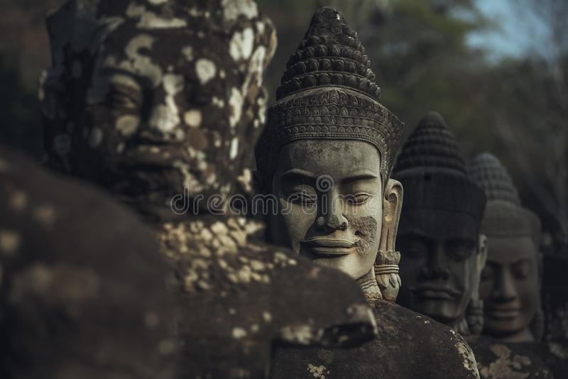 Vroege ochtend in Angkor Watï ¼ ŒCambodia royalty-vrije stock foto's