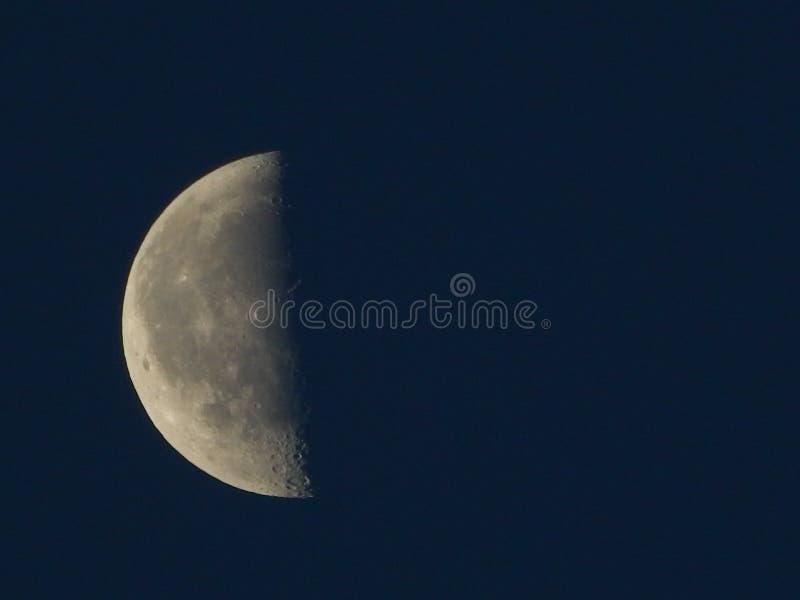 Vroege ochtend Halve Maan in de zonsopgang royalty-vrije stock foto