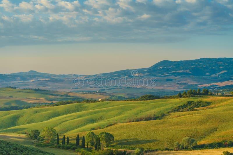 Vroege ochtend in Toscanië royalty-vrije stock afbeeldingen