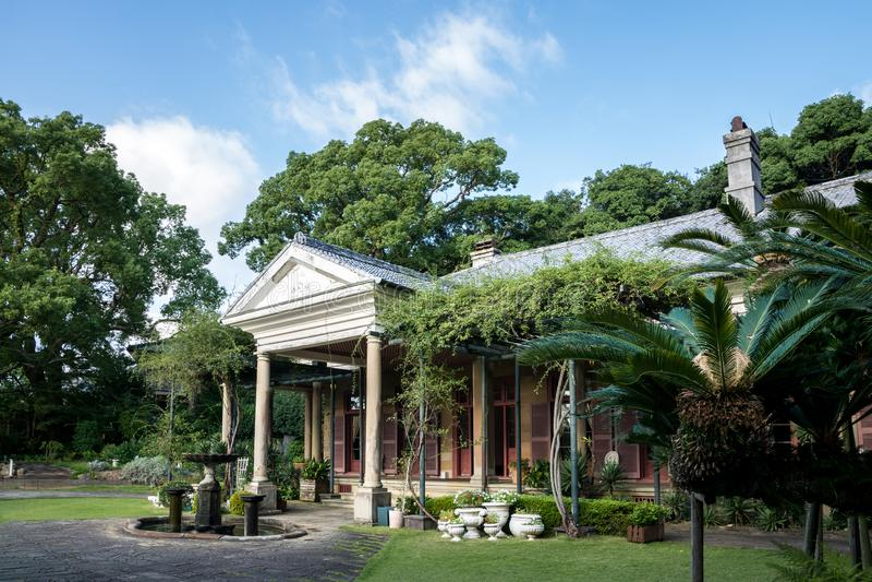 Vroeger Alt-Huis in Glover Garden, Nagasaki, Kyushu, Japan - de woonplaats van koopvaardijwilliam alt royalty-vrije stock fotografie