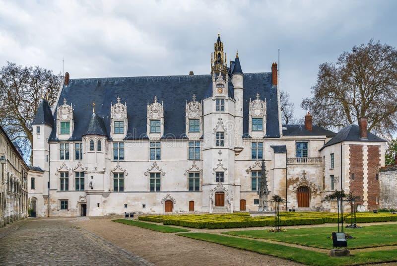 Vroeger bischop` s paleis in Beauvais, Frankrijk royalty-vrije stock afbeeldingen