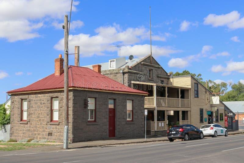 Vroeger Willis Brothers Steam Mill 1862 werkte ver als korenmolen in de 20ste eeuw royalty-vrije stock afbeelding