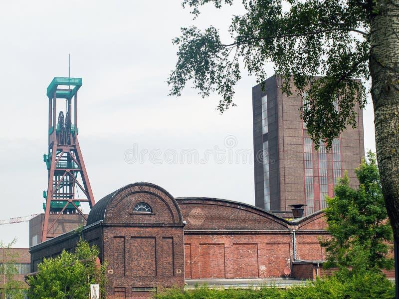 Vroegere kolenmijn royalty-vrije stock afbeelding