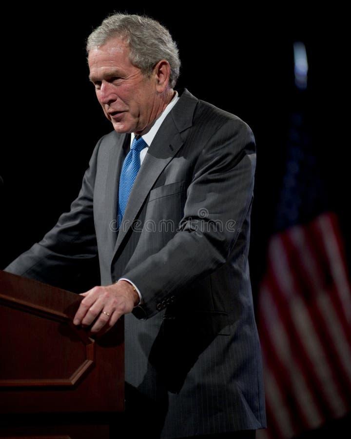 Vroegere President George W. Bush stock foto's