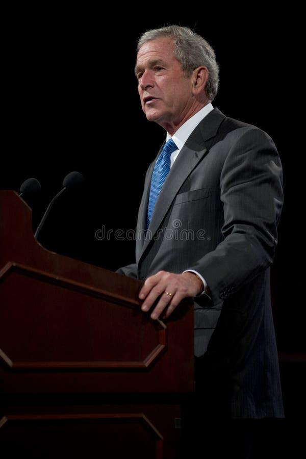 Vroegere President George W. Bush royalty-vrije stock foto's