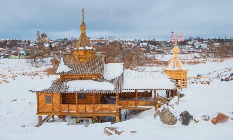 Vroegere Russische provinciale stad van Borovsk stock foto