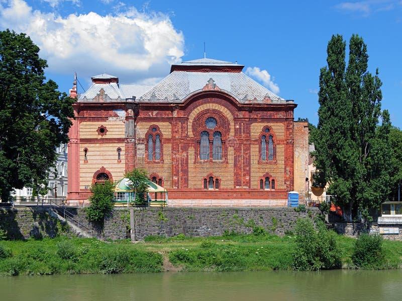 Vroegere Uzhgorod-Synagoge, Transcarpathië, de Oekraïne royalty-vrije stock foto