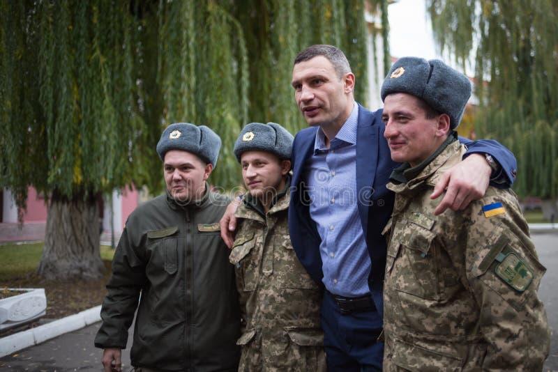 Vroegere zwaargewicht in dozen doende kampioen Vitali Klitschko royalty-vrije stock fotografie