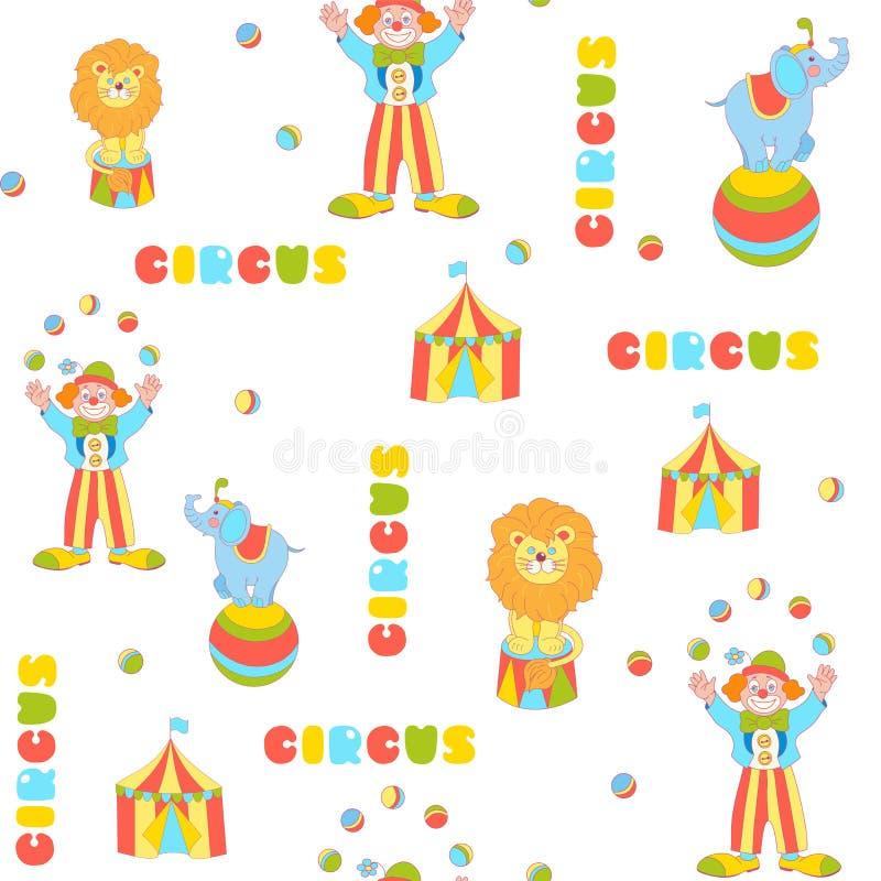 Vrolijk circus vector naadloos patroon royalty-vrije illustratie