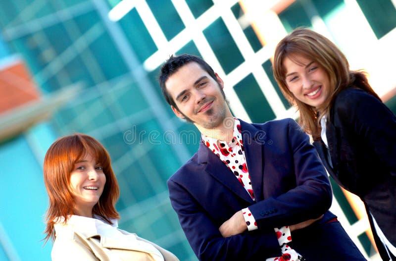 Vrolijk Commercieel Team stock foto's