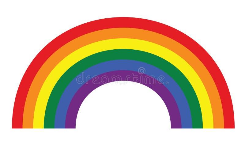 Vrolijk de regenboogsymbool van LGBT royalty-vrije illustratie