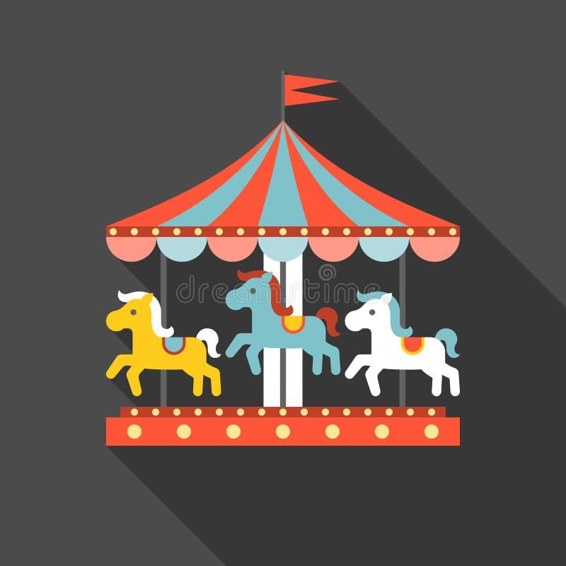 Vrolijk ga om vector royalty-vrije illustratie