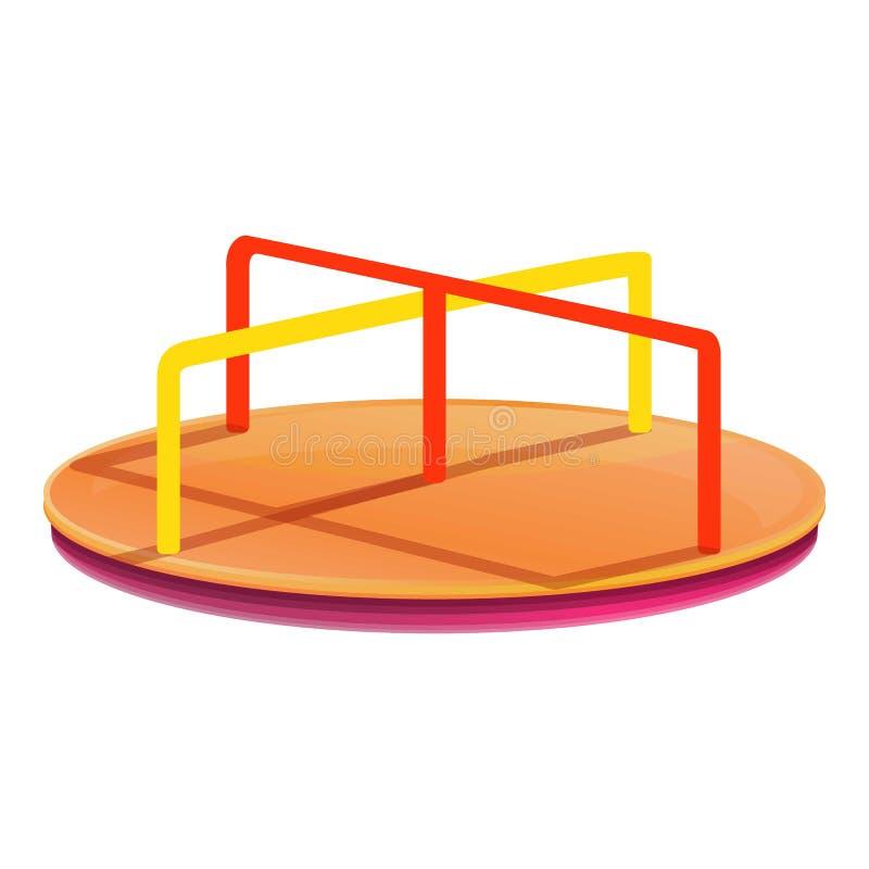 Vrolijk-gaan-rond pictogram, beeldverhaalstijl vector illustratie