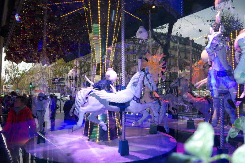 Vrolijk-gaan-rond Printemps-Showcase 2015 royalty-vrije stock afbeelding