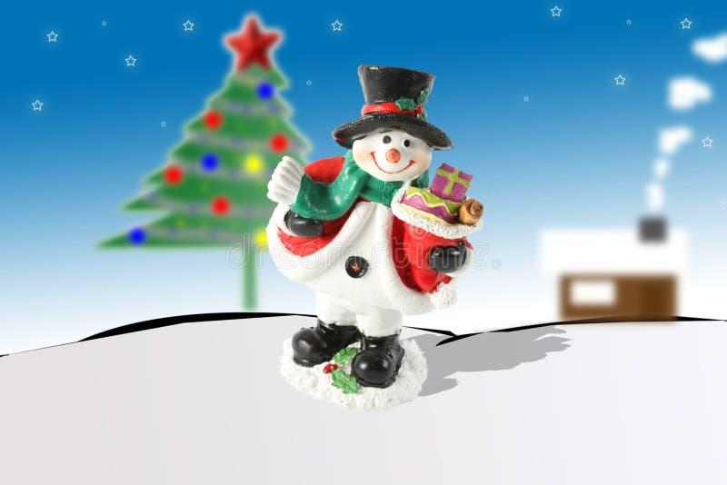 Vrolijk Kerstmis en Nieuwjaar Haapy stock afbeelding