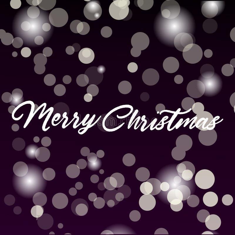 Vrolijk Kerstmisbericht en lichte achtergrond Vector vector illustratie
