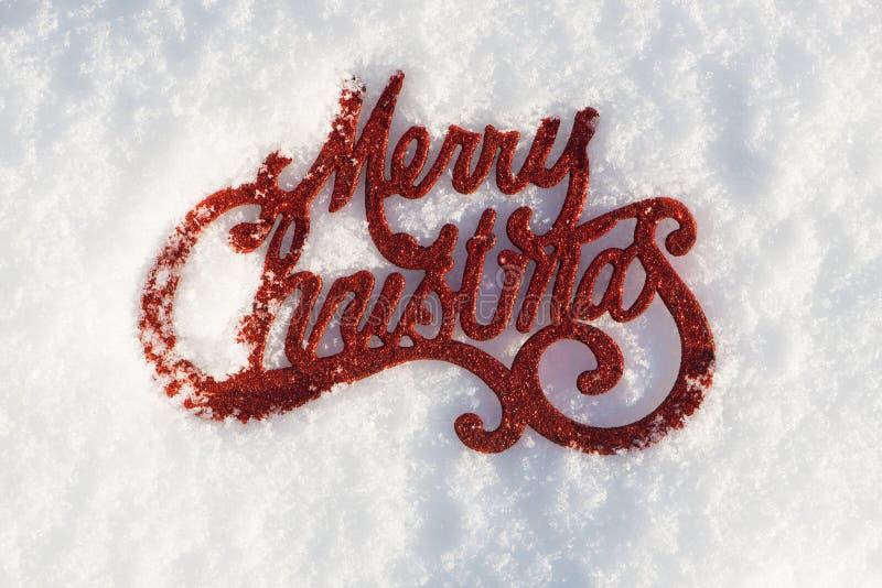 Vrolijk Kerstmisteken in de wintersneeuw royalty-vrije stock fotografie