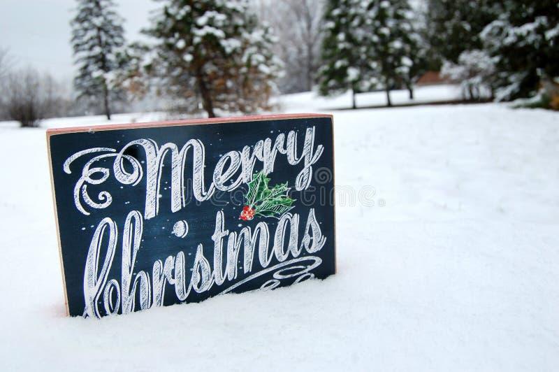 Vrolijk Kerstmisteken in Sneeuw royalty-vrije stock afbeelding