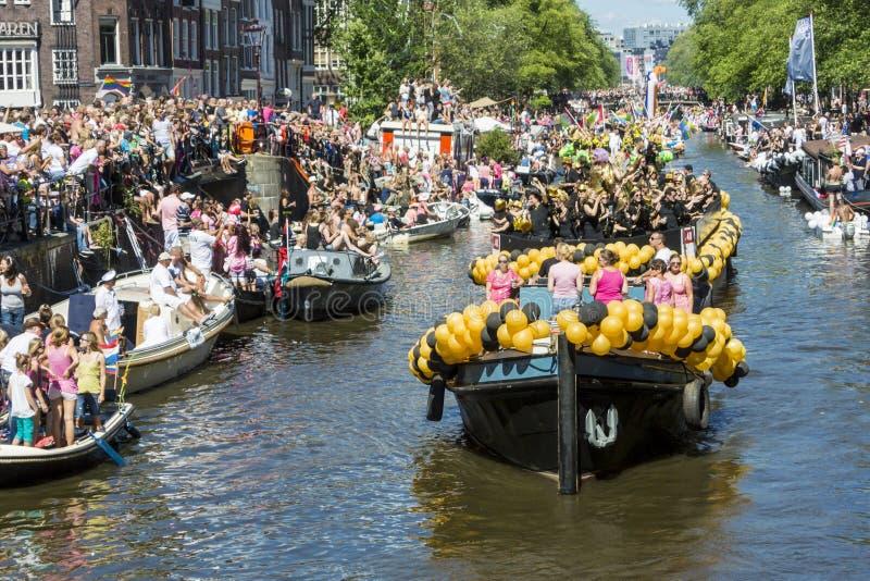 Vrolijk Pride Amsterdam August 2013 royalty-vrije stock afbeelding