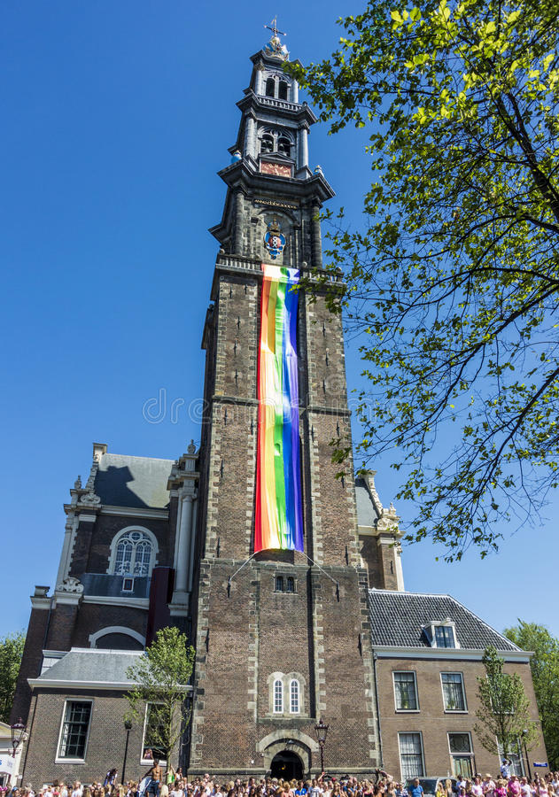 Vrolijk Pride Amsterdam August 2013 stock afbeelding