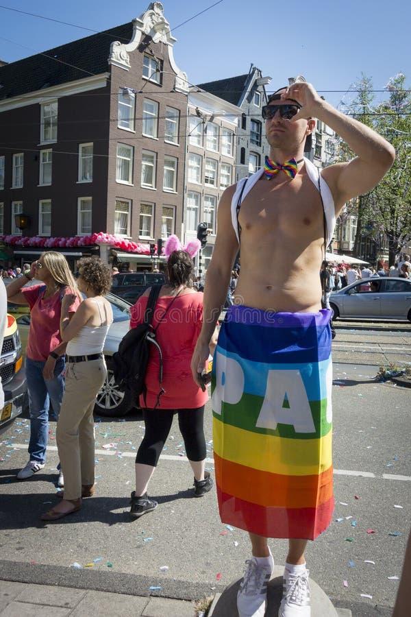 Vrolijk Pride Amsterdam August 2013 stock foto's