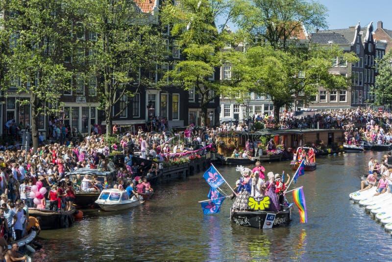 Vrolijk Pride Amsterdam August 2013 stock afbeeldingen