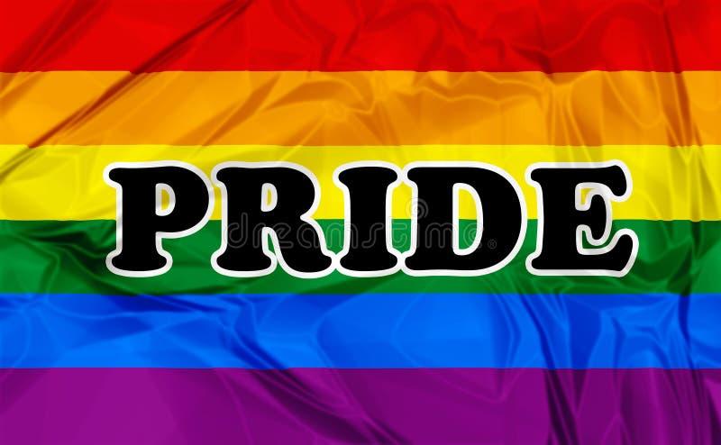 Vrolijk Pride Flag vector illustratie