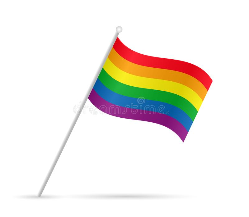 Vrolijk Pride Flag Illustration stock illustratie