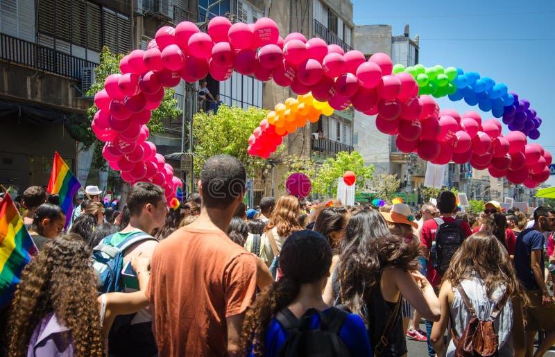 Vrolijk Pride Rainbow Balloon stock afbeelding