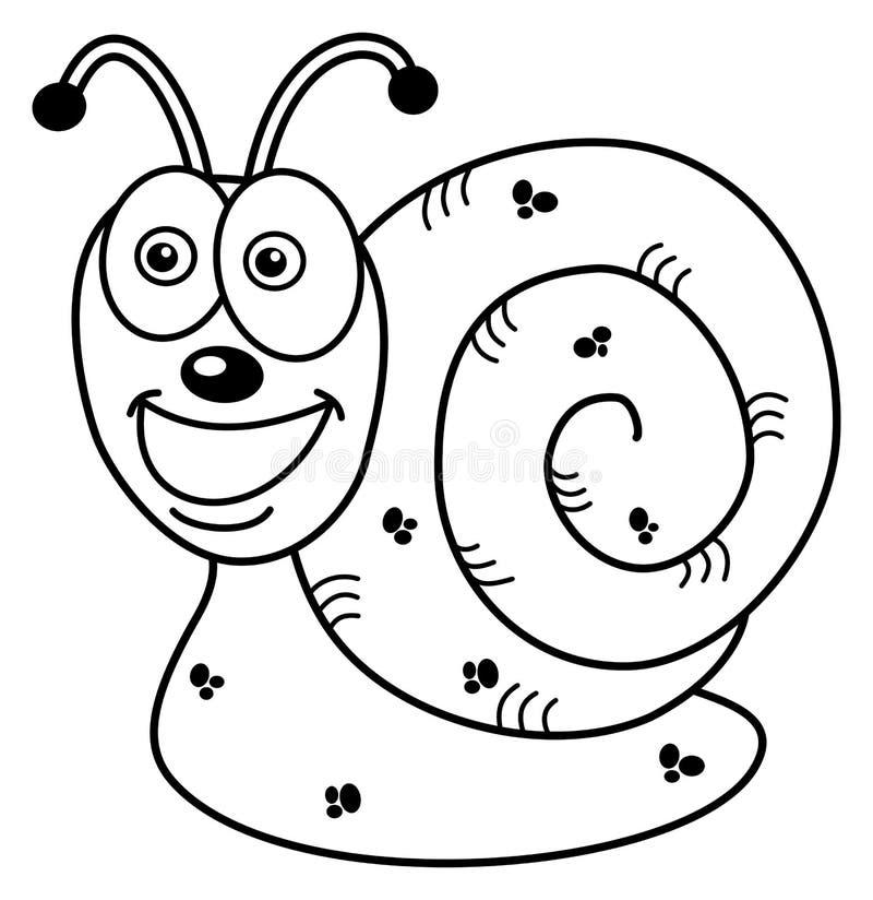Vrolijk slakprofiel voor het kleuren vector illustratie