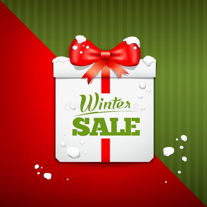 Vrolijk van de de dooswinter van de Kerstmisgift de verkoopontwerp royalty-vrije illustratie