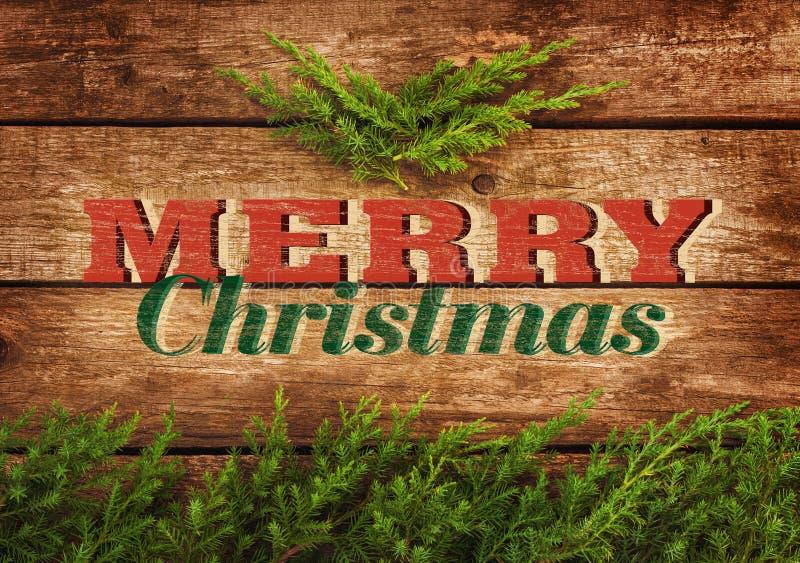Vrolijk van de Kerstmis uitstekend prentbriefkaar of affiche ontwerp stock foto