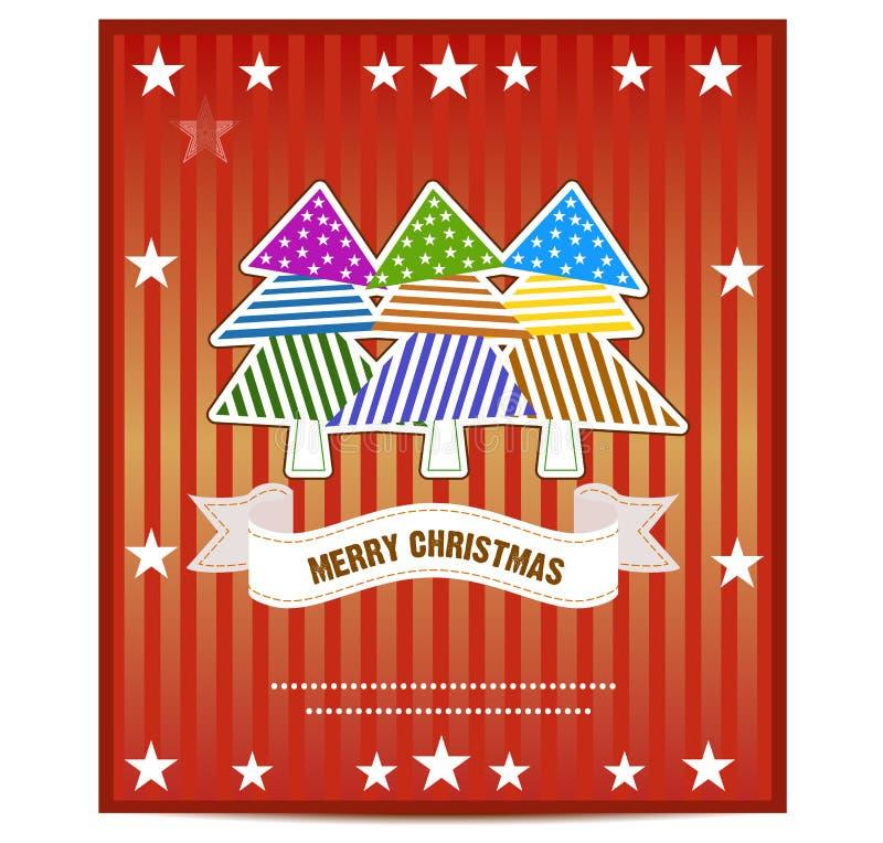 Vrolijke de Kaartvector van de Kerstmisgroet vector illustratie