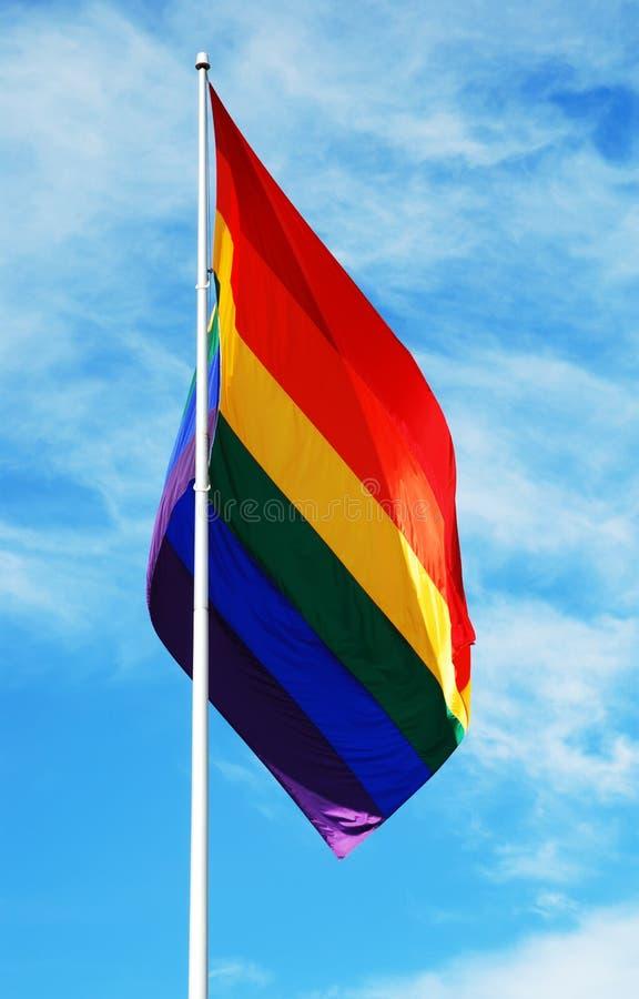 Vrolijke de trotsvlag van de regenboog stock afbeeldingen