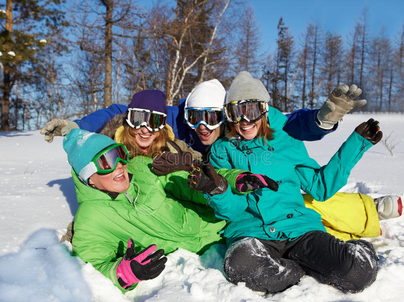Vrolijke de wintervakanties royalty-vrije stock foto