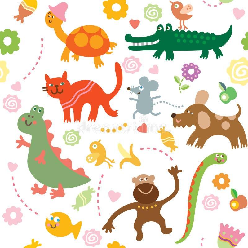 vrolijke dieren royalty-vrije illustratie