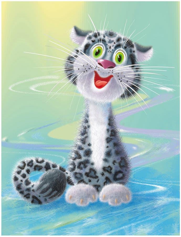 Vrolijke en het glimlachen kat vector illustratie