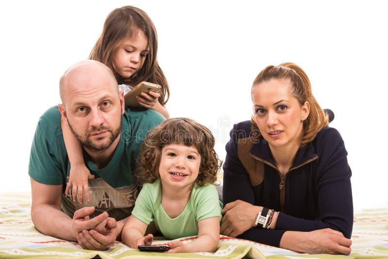 Vrolijke familie stock foto's